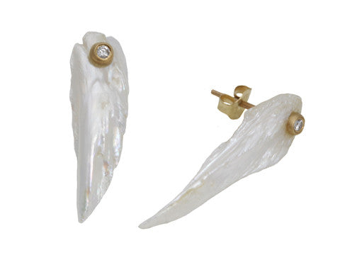 Tennessee Wings of Paradise Pearl Stud Earrings