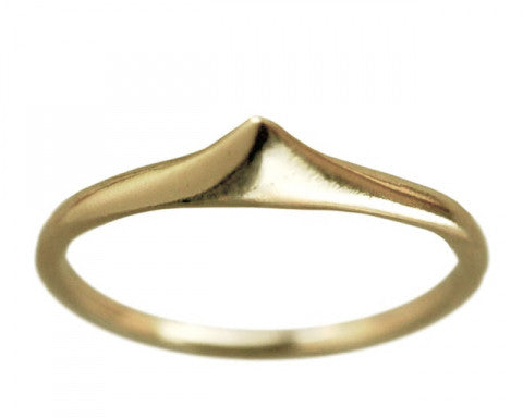 14K Gold Thorn Ring