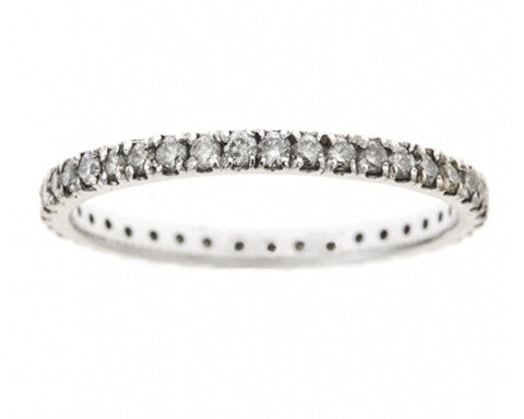 1.5mm White Diamond Eternity Band