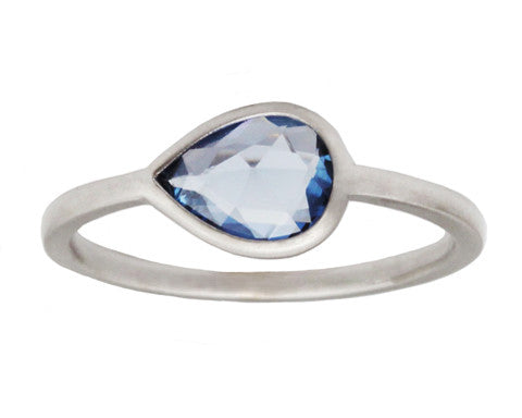 1ct Pale Blue Sapphire & 18-Karat White Gold Ring