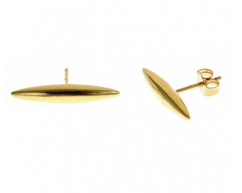 Large Bullet Stud Earrings