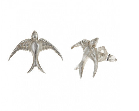 Large Bird Stud Earrings