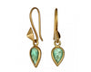 Rose-cut Emerald Drops & Gold Thorn Earrings