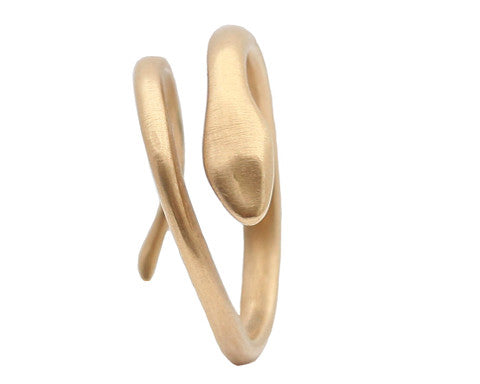 14K Gold Serpent Ring