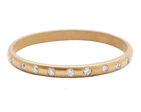 Pavé White Diamond Celeste Band