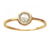 0.50ct Round Rose-cut Grey Diamond & Yellow Gold Wire Ring
