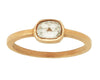 0.53ct Cushion Rose-cut Grey Diamond & Yellow Gold Bezel Ring