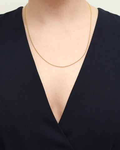 14K Gold Ball Chain Necklace