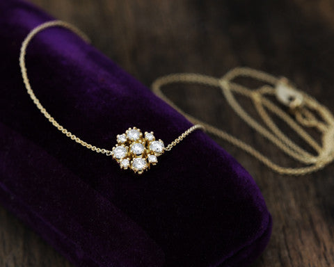Marie Diamond Cluster Necklace