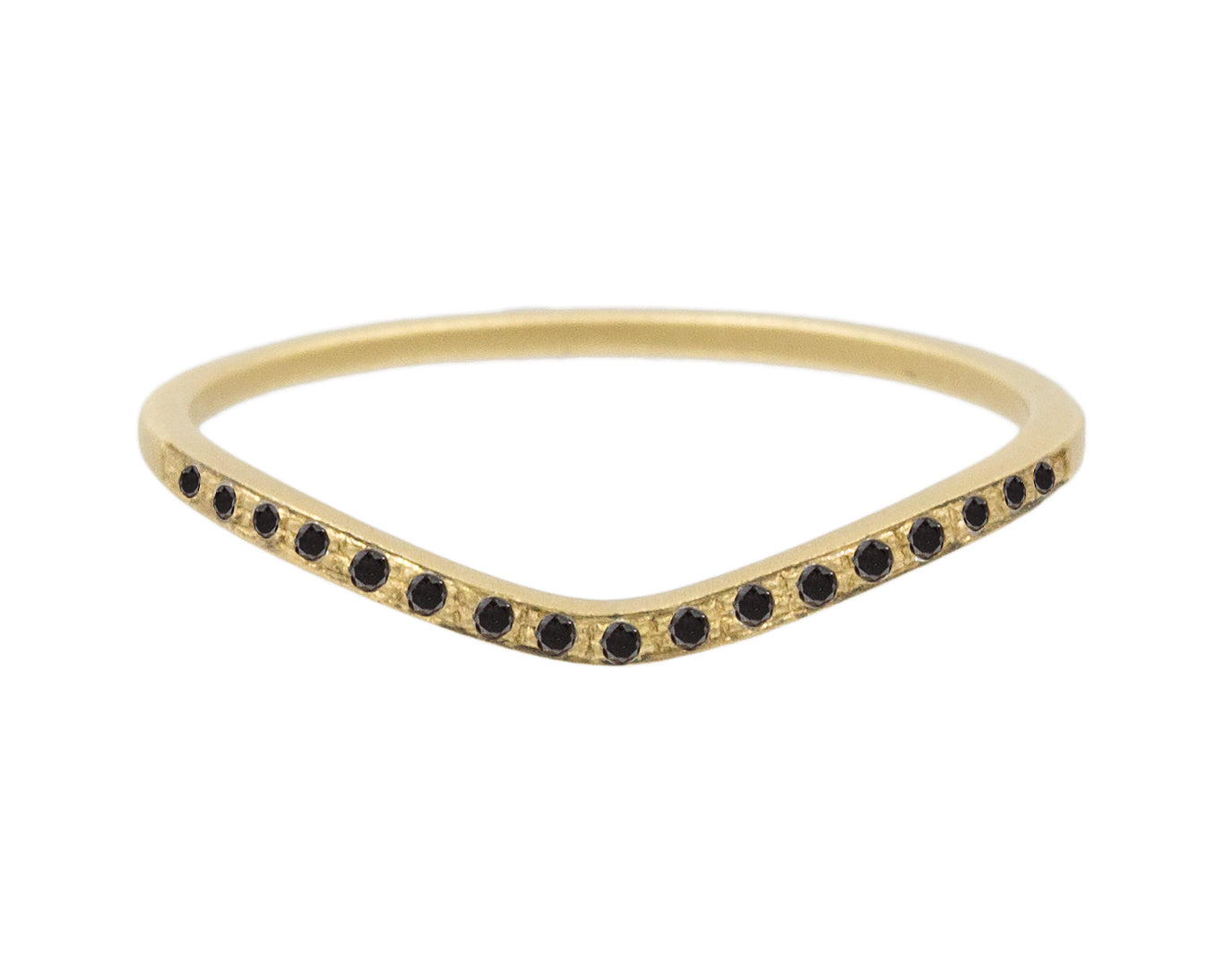 Edie Black Diamond Pavé Curved Band