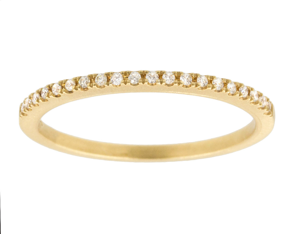 Claire White Diamond Tapered Gold Band