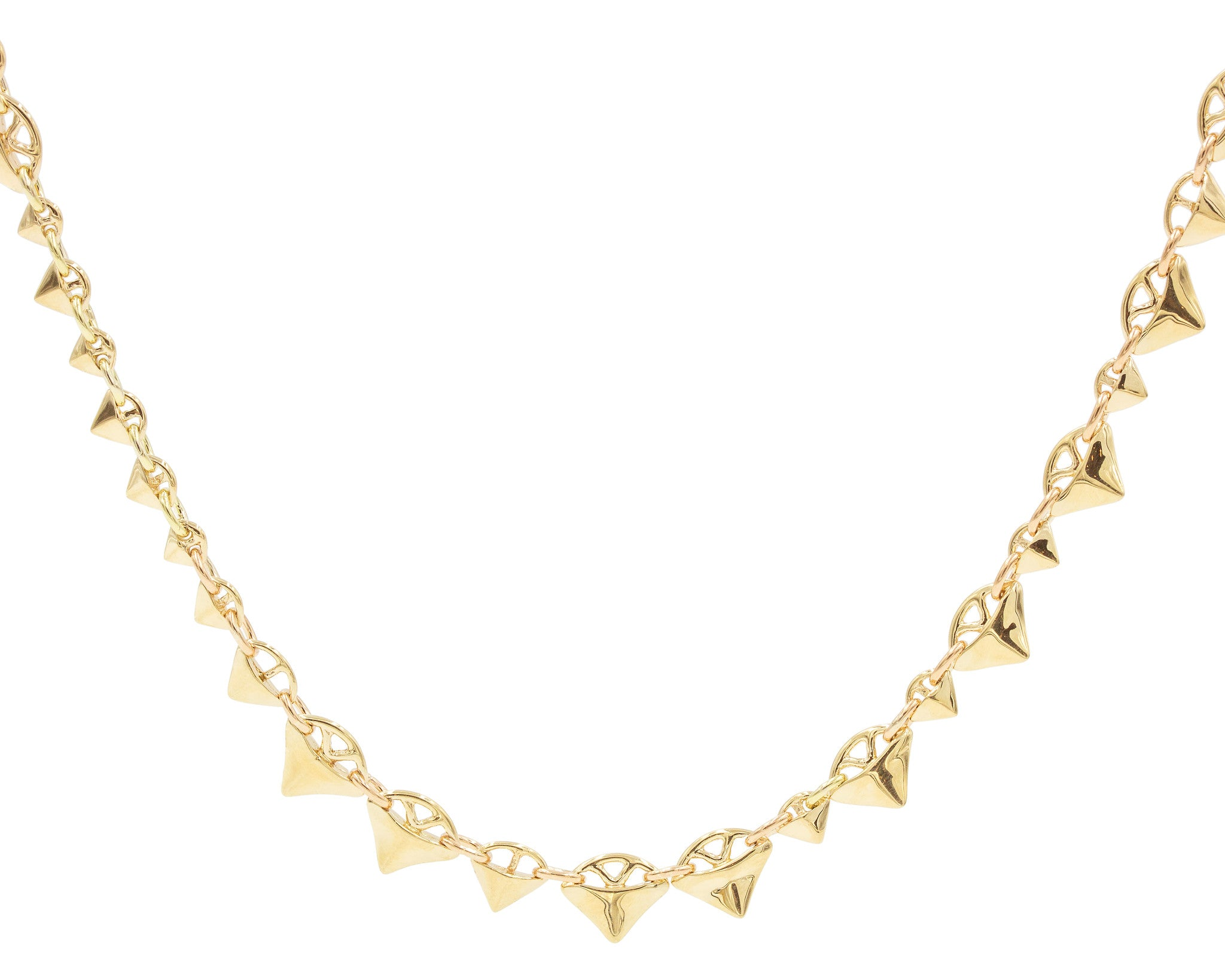 Gold Multi-Thorn Plokion Necklace