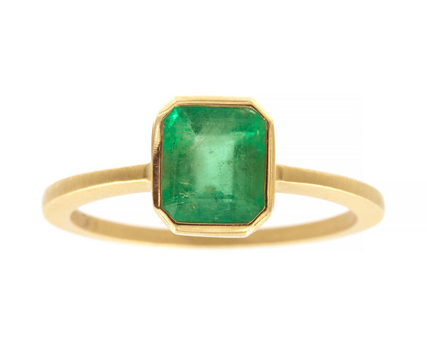 1.21ct Cushion Emerald Ring