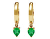 Pear Emeralds & 14k Yellow Gold Hoops