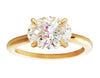 1 Carat  East-West Oval Diamond Ring