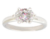 1 Carat East-West Oval Diamond Ring with 6 Prongs