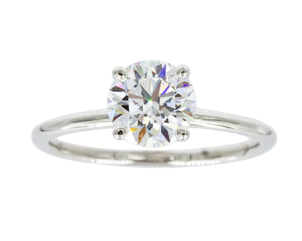1.00 Carat White Diamond Platinum Solitaire