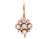 Marie Rose Gold White Diamond Cluster Earrings