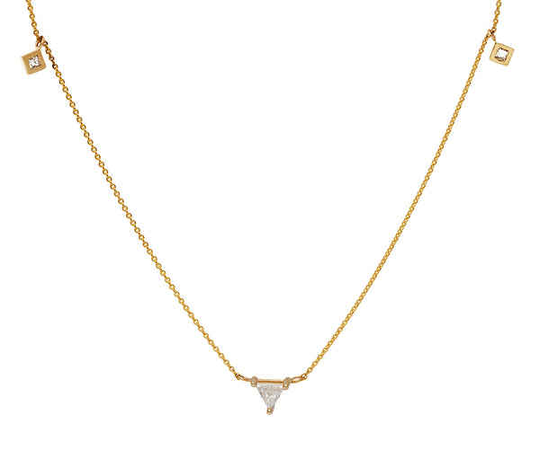 Juliet Trillion Diamond Gold Necklace