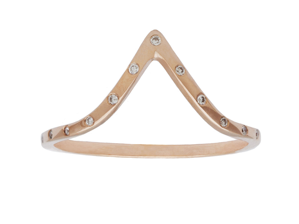 Celeste Rose Gold Triangle Diamond Band