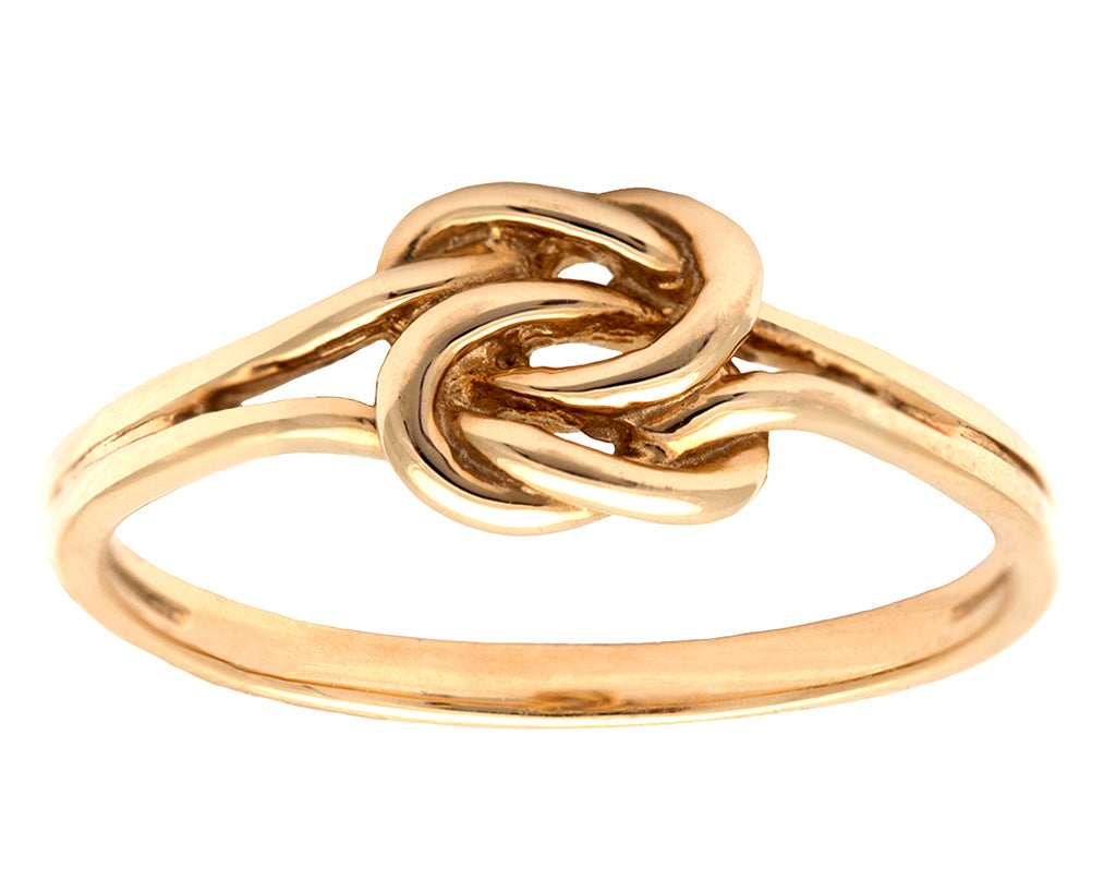Lover's Knot Gold Ring