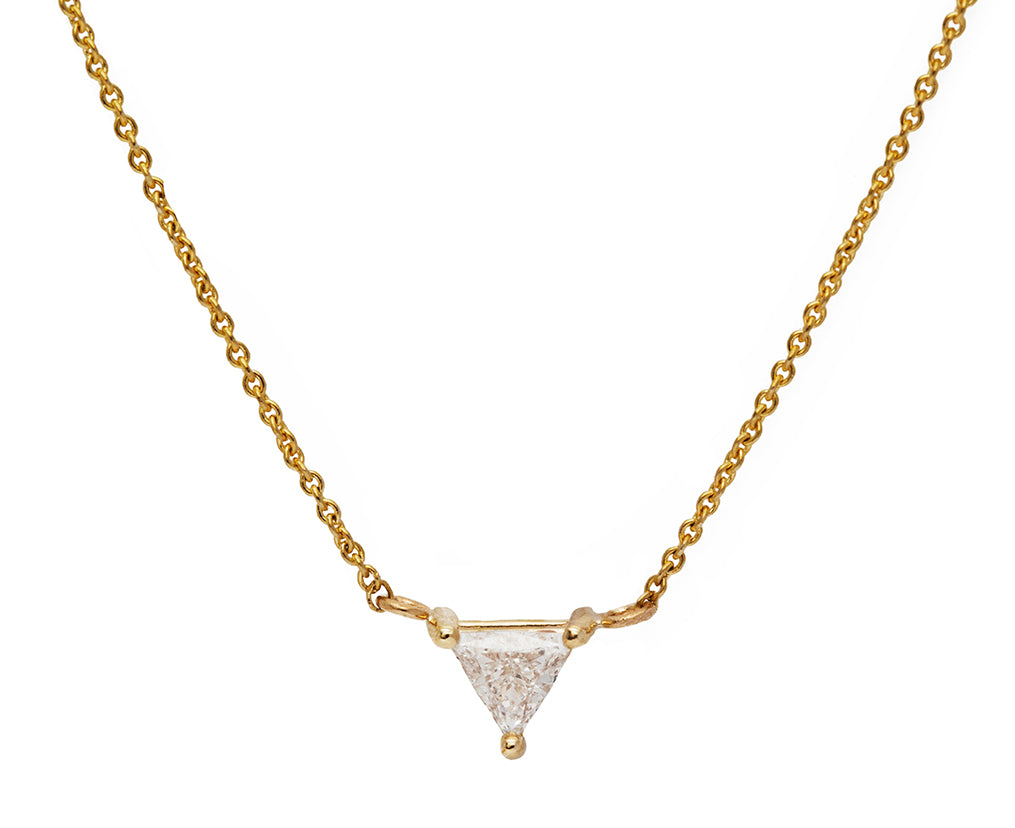 Trillion Diamond Gold Necklace