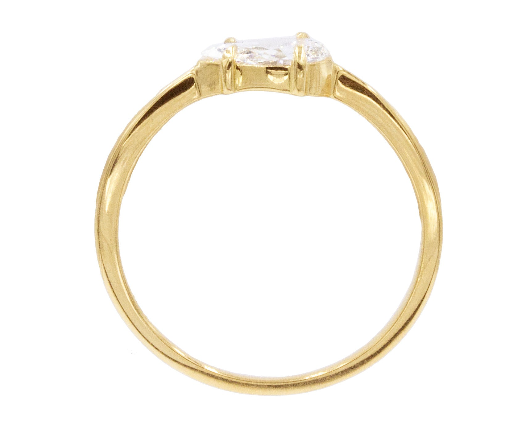 0.50ct Pear White Diamond & 18K Yellow Gold Sophia Ring