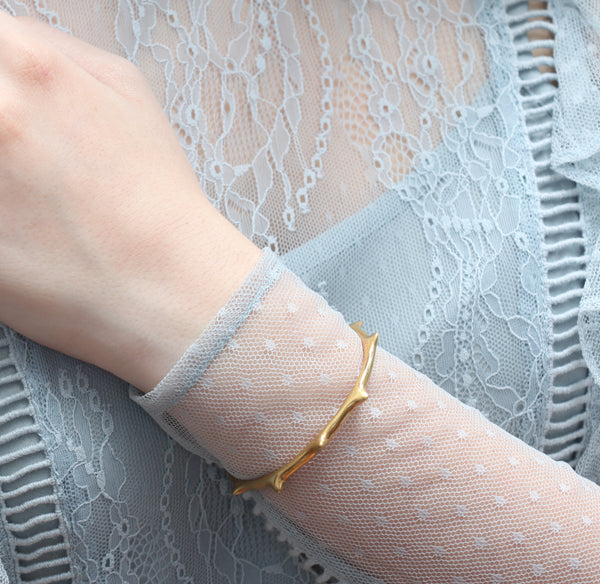 Yellow Gold Thorn Cuff