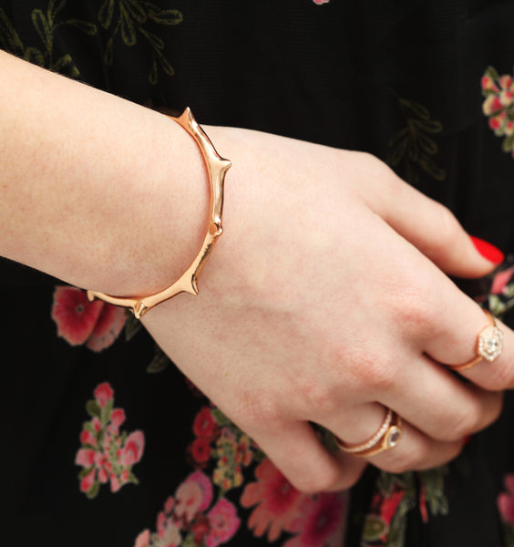 Rose Gold Thorn Cuff