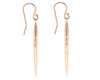 14K Gold Tapered Skinny Drop Earrings