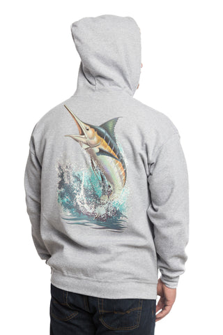 Performance Fishing Sweater - Marlin Gray - All-American Fishing - 1