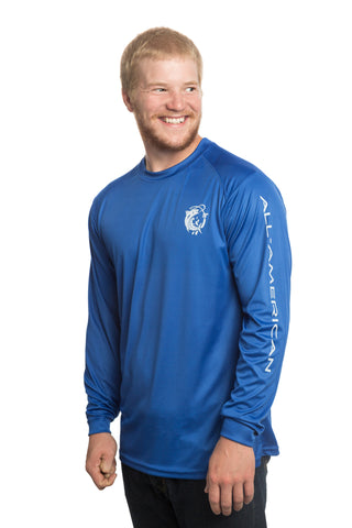 Performance Dri Fit  UPF 30+ Shirt - Men's Long Sleeve - All-American Fishing - 1