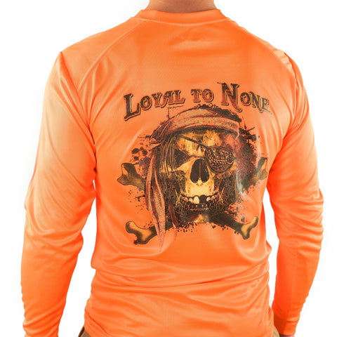 Ultimate Dri Fit Fishing Shirt UPF 30+ Men's Long Sleeve - Loyal To None Orange - All-American Fishing - 1