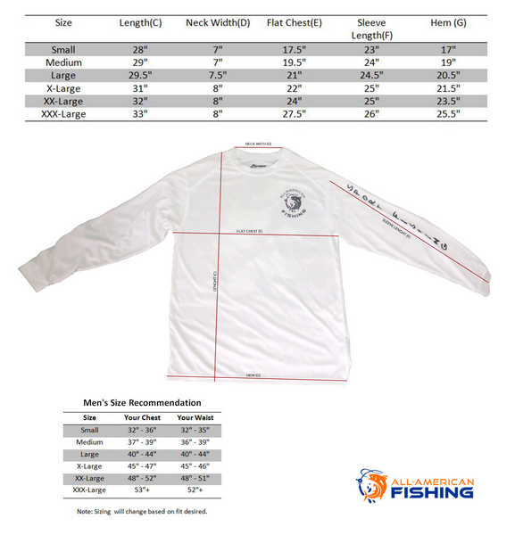 Ultimate Dri Fit Fishing Shirt UPF 30+ Men's Long Sleeve - Mahi Mahi White - All-American Fishing - 3