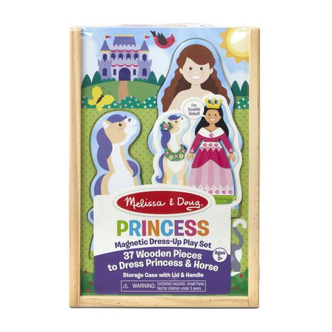 Princess wooden Magnetic Dress-Up Play Set