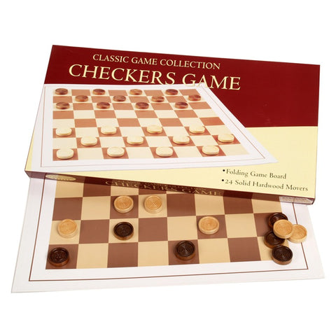 Checkers Game with Wood Movers