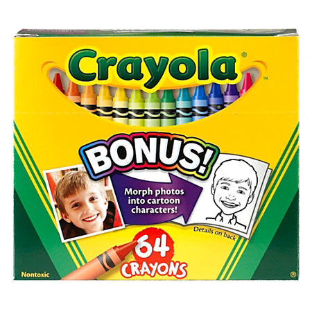 Crayola - 64 Crayon Colors w/ Sharpener