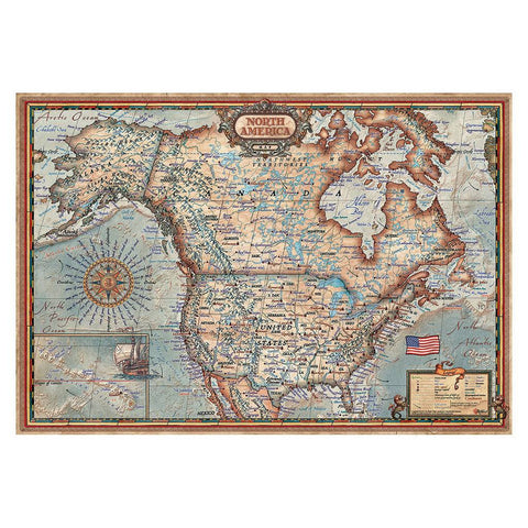North American Map - 1000 Piece Puzzle - Finnegan's Toys & Gifts