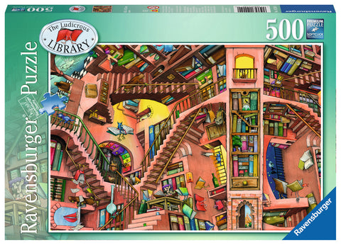 Ravensburger - The Ludicrous Library Puzzle (500 pcs)