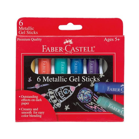 Faber-Castell 6 Metallic Gel Sticks - Finnegan's Toys & Gifts
