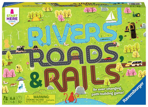 Ravensburger Rivers, Roads and Rails Game