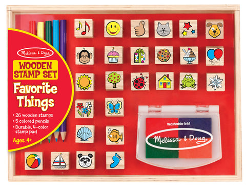 Wooden Favorite Things Stamp Set - Finnegan's Toys & Gifts