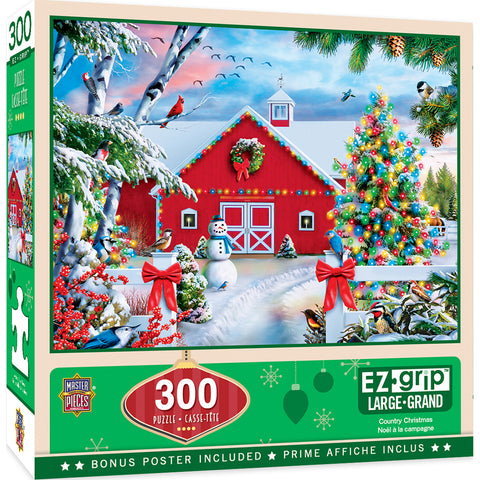 Masterpieces Holida Country Christmas 300pc EzGrip Puzzle