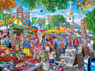 Market Day Afternoon - Farmer's Market 750pc Puzzle