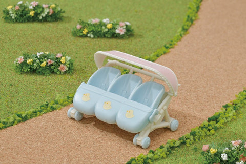 Calico Critters Triple Baby Stroller