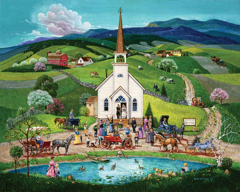 Spring Wedding  (100 large pc Puzzle)