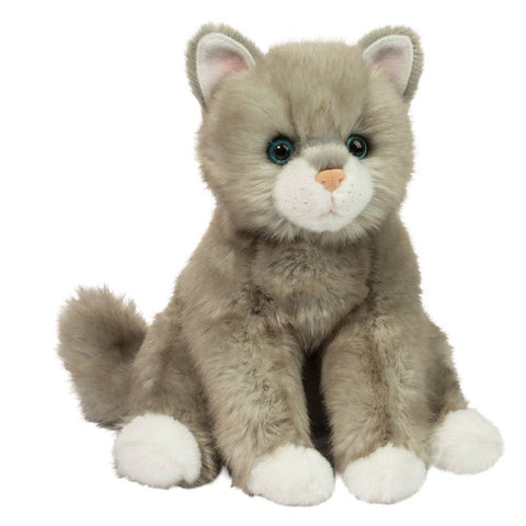 Rita Light Gray Stuffed Cat