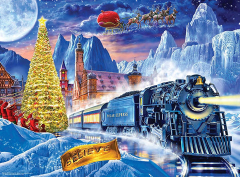 MasterPieces The Polar Express - 100pc Glow in the Dark Puzzle