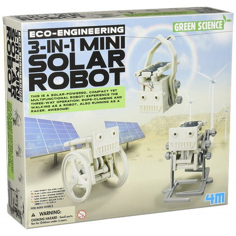 Eco-Engineering 3-in-1 Mini Solar Robot
