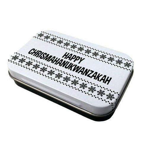 Happy Chrismahanukwanzakah Candy Tin